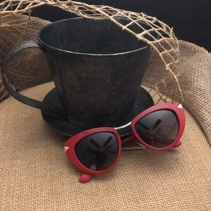 Guess-Red Eye Candy Cat Eye Sunglasses